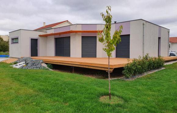 Pavillon ossature bois à Verdun